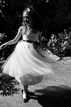Twirler No 2 8x10 girl dancing in black and white by clementseye, $35.00