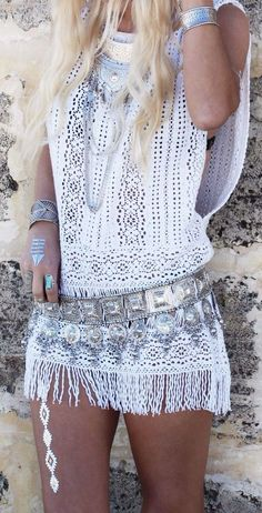 Street Style with Silver Accessories, Boho Chic