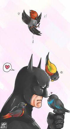 Batman and his Robins. - Imgur @Aliya Heywood Yvonne This picture is so accurate on the relationship between the Robins and Batman. hehehe Jason Todd