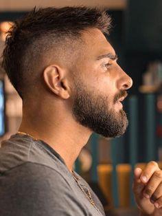 Short Hair With Beard, Short Fade Haircut, Hair And Beard Styles, Short Hair Styles, Faded Beard Styles, Mohawk Hairstyles Men, Cool Hairstyles For Men, Haircuts For Men, Crew Cut Hair
