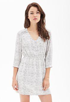 WOMEN'S DRESSES | WOMEN | Forever 21 Abstract Chevron Henley Dress