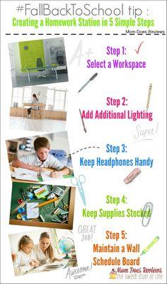 Creating a Homework Station in 5 Simple Steps #FallBacktoSchool #MomDoesReviews #Follett