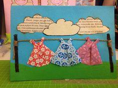 Handmade origami dress card #origami #origamidress #handmade #cards