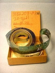 UNIVAC Mylar Green Punched Tape used to program mainframe computer (1972).