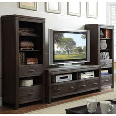 Shop for the Riverside Furniture Promenade Entertainment Wall Unit at Interiors Home Furnishings - Your Mankato Furniture & Mattress Store Home Entertainment Furniture, Home Entertainment Centers, Riverside Furniture, Nebraska Furniture Mart, Belfort Furniture, Wolf Furniture, Furniture Ideas, Condo Furniture, Hickory Furniture
