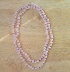 Rose-Quartz-Necklace-Natural-Rose-Quartz-Jewellery-Handmade-Long-107cm