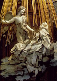 Gianlorenzo Bernini: The Ecstasy of Saint Therese (detail) 1647-52