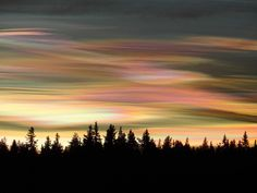 Ice polar stratospheric clouds, also known as mother-of-pearl clouds.