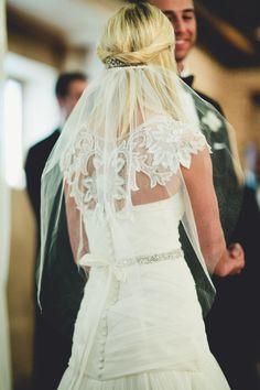 cool dress! - Seattle Ballroom Wedding: http://www.ruffledblog.com/