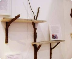 Pinterest Do It Yourself slelves | HOME DECOR _ DO IT YOURSELF! / Twig SHELF