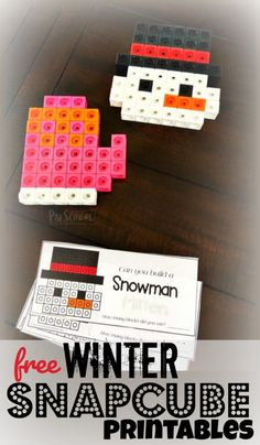 FREE Winter Snapcube Printables - these free printable pattern block templates are a fun preschool math activity for winter! LOW PREP and perfect for january themes and math centers with preschoolers and kindergartners Source link January Preschool Themes, Preschool Math, Kindergarten Math, Preschool Winter, Math Math, Winter Activities, Christmas Activities, Preschool Activities, Therapy Activities