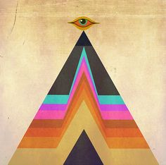 """Serpentfire Logo"" by Devany Wolfe. Pyramid = stability + eye = protection."