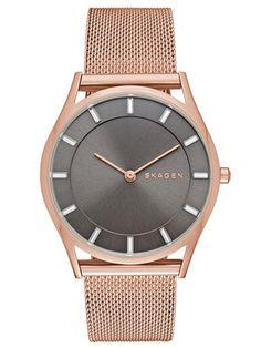 SKAGEN HOLST | SKW2378 Skagen Watches, Steel Mesh, Gold Watch, Rose Gold, Beauty, Stainless Steel, Polyvore, Jewelry Watches, Slim