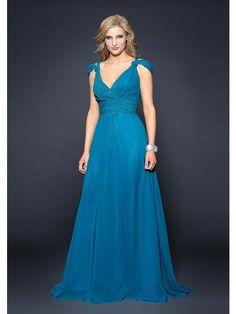 A-Line V-neck Floor-Length Chiffon Off-the-Shoulder Plus Size Bridesmaid Dresses $95.71