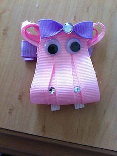 Hippo Ribbon Art Clip