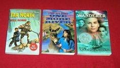Lot 3 Chapter Books Adventure Survival Wanderer Far North Lynne Reid Banks Sharon Creech, Chapter Books, Tween, Banks, Middle School, Wander, Good Books, Survival, Adventure