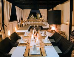 The rooftop terrace, perfect for an intimate dinner party.