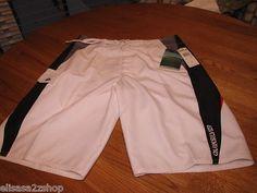 Men's Quiksilver swim surf board shorts pig dog NWT 33 waist white 101206 NEW