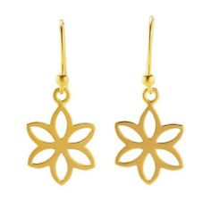 24K Gold-Plated Sterling Flat Flower Earrings Body Candy. $56.25. Save 43% Off!