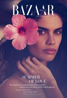 """Summer of Love"" Sara Sampaio for Harper's Bazaar UK August 2015"