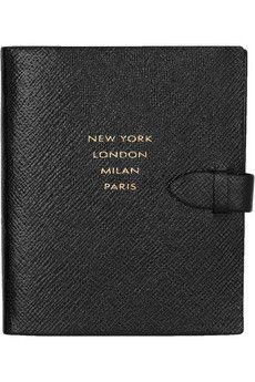 SmythsonRunway textured-leather notebook