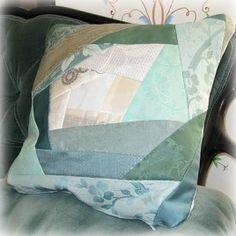 Tutorial: Spiral crazy patchwork throw pillow