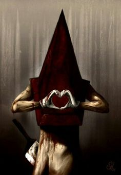 Red Pyramid Thing I love you, Silent Hill Good grief. Silent Hill 2, Silent Hill Series, Red Pyramid, Pyramid Head, Giant Bomb, Creepy Pictures, Horror, Geek Stuff, Art Prints