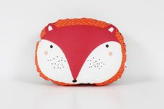 "Home and Decoration.  Small animal pillow ""Fox"". The ava&yves pillows are produced by ""proWerk Bethel"", an organisation for handicapped people. Size of the cushion: ca. 25x21x10cm. Material: front: 100% cotton, back: 60% polypropylen, 30% wool, 10% viscose. Filling:  100% polyester Oekotex100, handwash recommended.  20,00 € incl. VAT plus shipping."