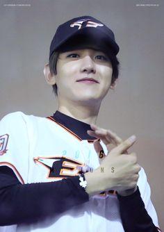 Chanbaek, My King, Chanyeol, Cute Puppies, Celebs, Kpop, Cookie Dough, Bacon, Angel