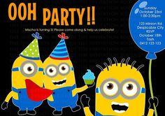 Minion Birthday Invitation by TheInvitationBoutiqu on Etsy, $10.00
