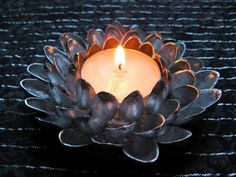 #Candle Flower or Votive - 6 Pistachio Shells Jewelry and Decor Projects   DIY Recycled