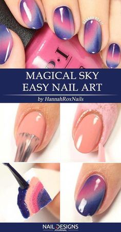 There are so many DIY nails ideas out there. We have prepared some stunningly easy and trendy tutorials. Fear not to stand out! nageldesign einfach 25 Super Easy DIY Nails Designs Every Girl Should Know Diy Nail Designs, Simple Nail Designs, Easy Designs, Diy Design, Design Art, Nail Art Diy, Easy Nail Art, Easy Art, Simple Art