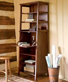 Loving this Drop Leaf Six-Shelf Bookcase on #zulily! #zulilyfinds this is super cool. $250