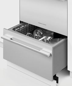 - Tall Panel Ready Double DishDrawer™ Dishwasher incl Sanitize, Extra Dry, full flex racking and water softener - 81216 Kitchen Drawers, Kitchen Cabinetry, Kitchen Appliances, Kitchens, Fisher Paykel Dishwasher, Stainless Steel Panels, Plastic Ware, Drawer Design, Door Kits