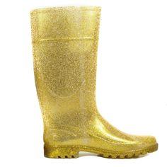 Gold Glitter Rain Boots | Danice Stores