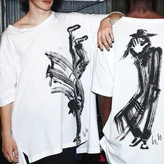 yohji yamamoto has painted a series of caricatures of himself playfully expressing the collection's theme. these drawings appear on oversized t-shirts. find the y3 s/s 16 collection in all nz zambesi stores. #y3 #adidas #yohjiyamamoto #zambesistore photo @adidasy3