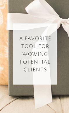 My new client kit -- a favorite tool for wowing potential clients