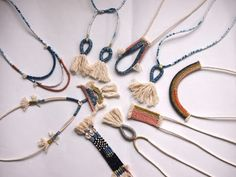 ouch flower: Woven Rope Jewellery Collection.