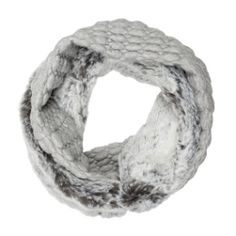 Sports snood made from silky soft faux fur and jersey. Wear the two fabrics together or separately. By Blanche in the Brambles