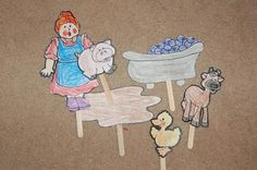 mrs. wishy-washy puppets