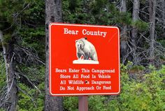 Many Glacier, Glacier National Park bear warning