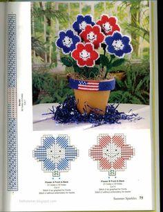 plastic canvas flowers