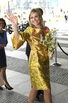 Queen Maxima attended the May 17 anniversary Congress of the Federation of Dutch pension funds in the Hague that day Maxima celebrated its 45 years.