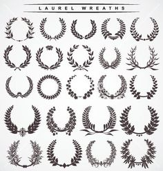 "Laurel wreaths with A cursive ""D"" in the middle"