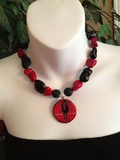 Texas Tech necklace by Beckyschunkystuff on Etsy