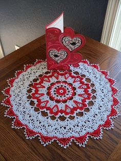 Infinite Love .pdf crochet doily pattern by by InThreadibleHome
