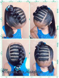 Dutch Braid Cornrows & Pull Through Braid🎀 Straight Hairstyles, Braided Hairstyles, Outre Hair, Pull Through Braid, Toddler Hair, Confident Woman, Braids For Long Hair, Little Girl Hairstyles, Hair Dos