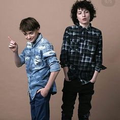--> swipe | outtakes for Status Magazine of Finn (@finnwolfhardofficial) and Noah (@noahschnapp) in August #finnwolfhard #noahschnapp #strangerthings