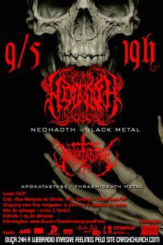 Flyer feito para o show do Apokatastase e Neohadth na Crash Church