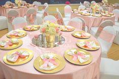 Sally A's Birthday / Pink Princess - Photo Gallery at Catch My Party Royal Princess Birthday, Baby Shower Princess, Pink Princess, Princess Party, Pink Gold Party, Pink And Gold, Tea Party Birthday, Girl Birthday, 1st Birthday Decorations
